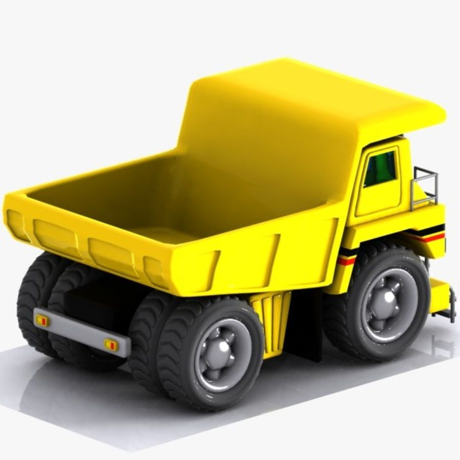 Cartoon Haul Truck royalty-free 3d model - Preview no. 6