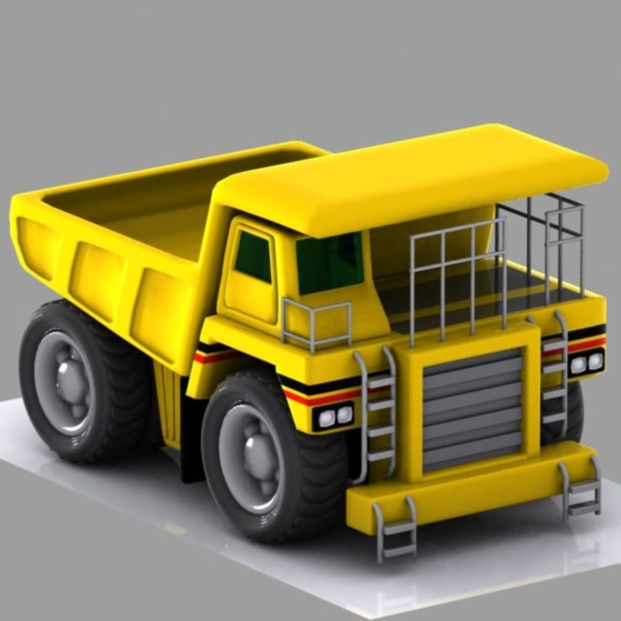 Cartoon Haul Truck royalty-free 3d model - Preview no. 2