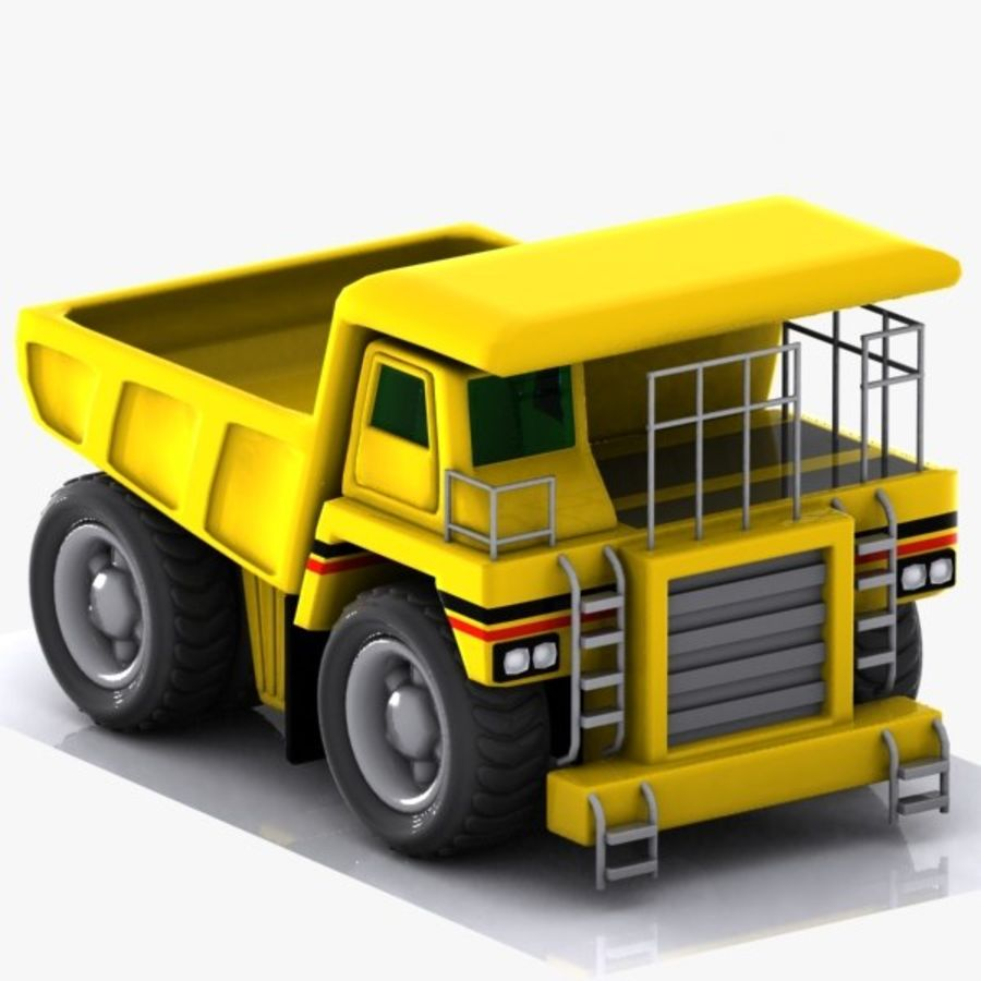 Cartoon Haul Truck royalty-free 3d model - Preview no. 1