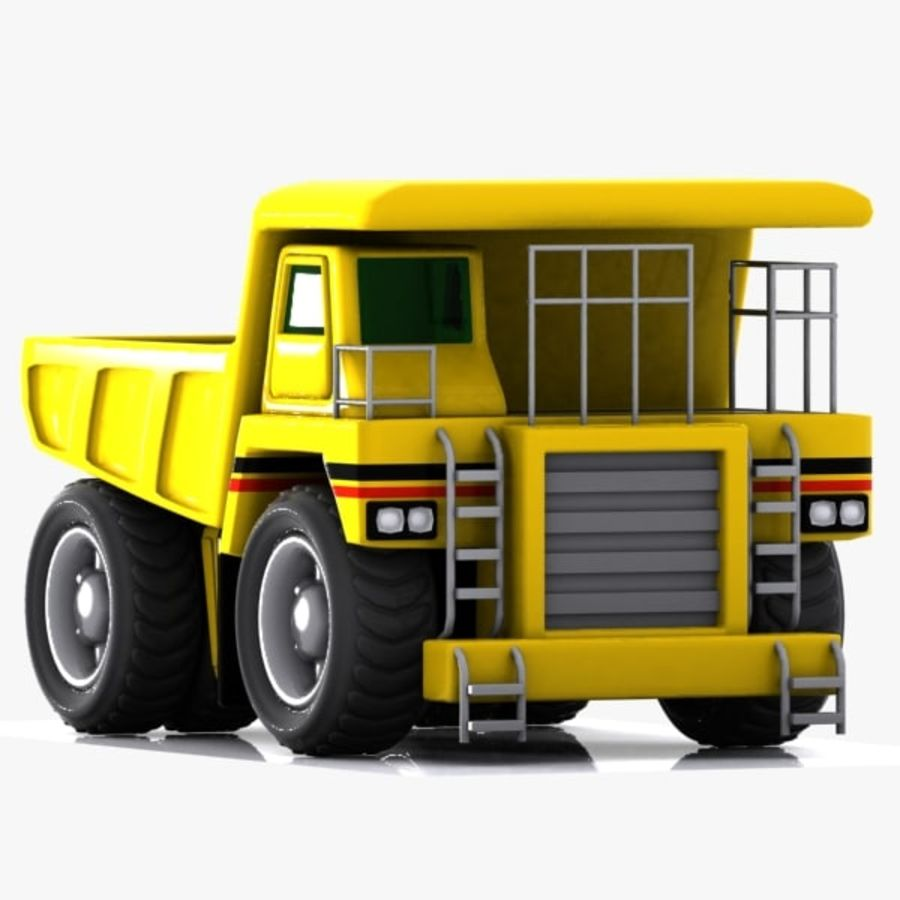 Cartoon Haul Truck royalty-free 3d model - Preview no. 5