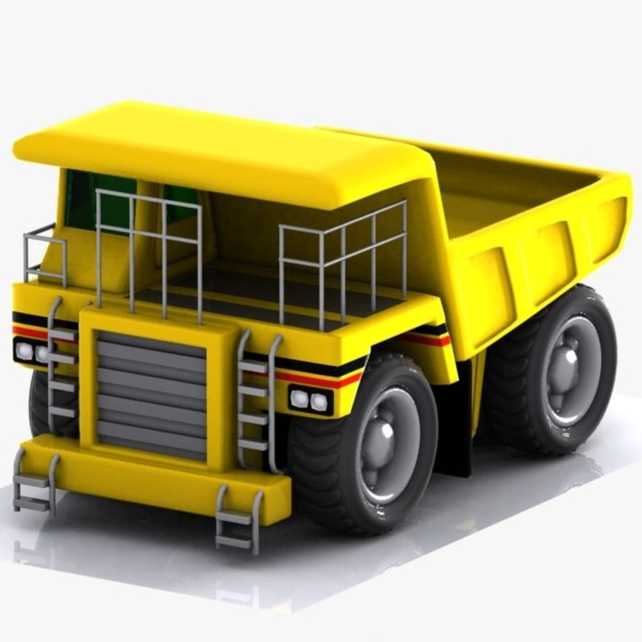 Cartoon Haul Truck royalty-free 3d model - Preview no. 3