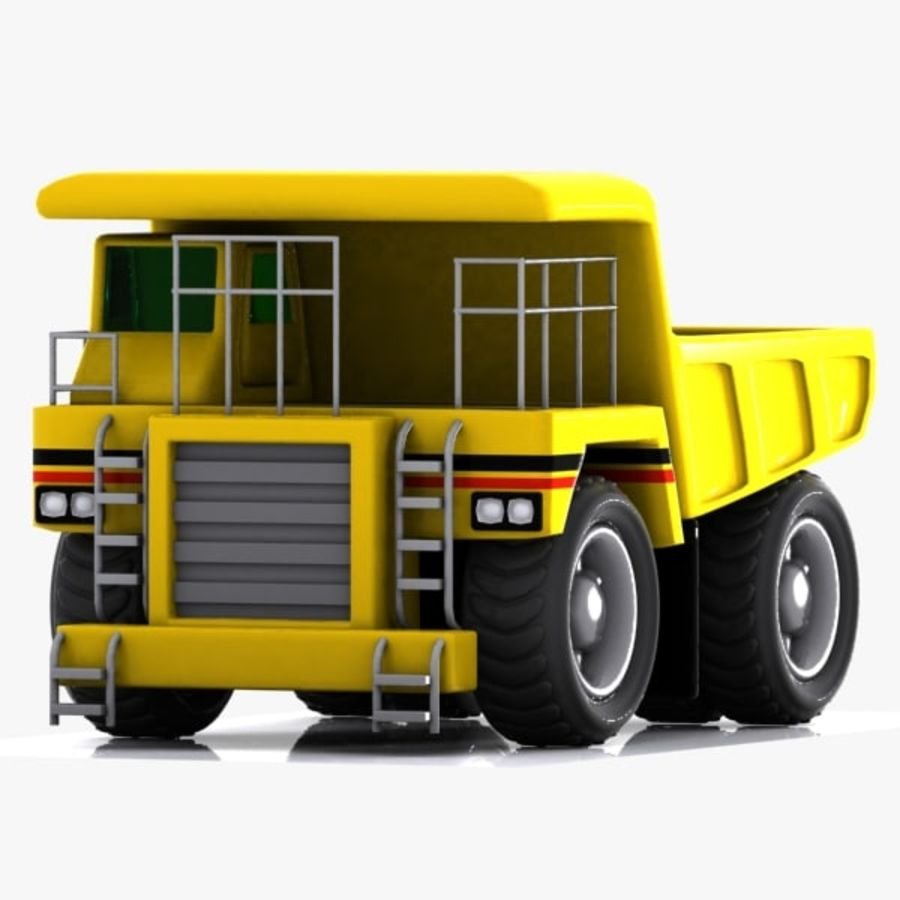 Cartoon Haul Truck royalty-free 3d model - Preview no. 4
