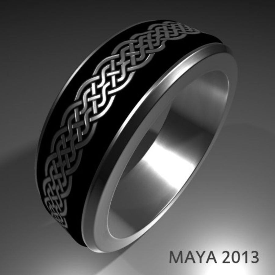 Keltischer Ring 2 royalty-free 3d model - Preview no. 6