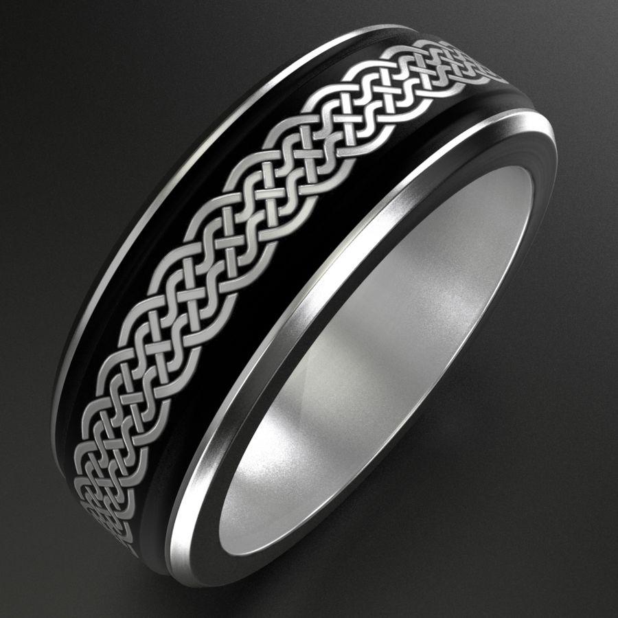 Keltischer Ring 2 royalty-free 3d model - Preview no. 1