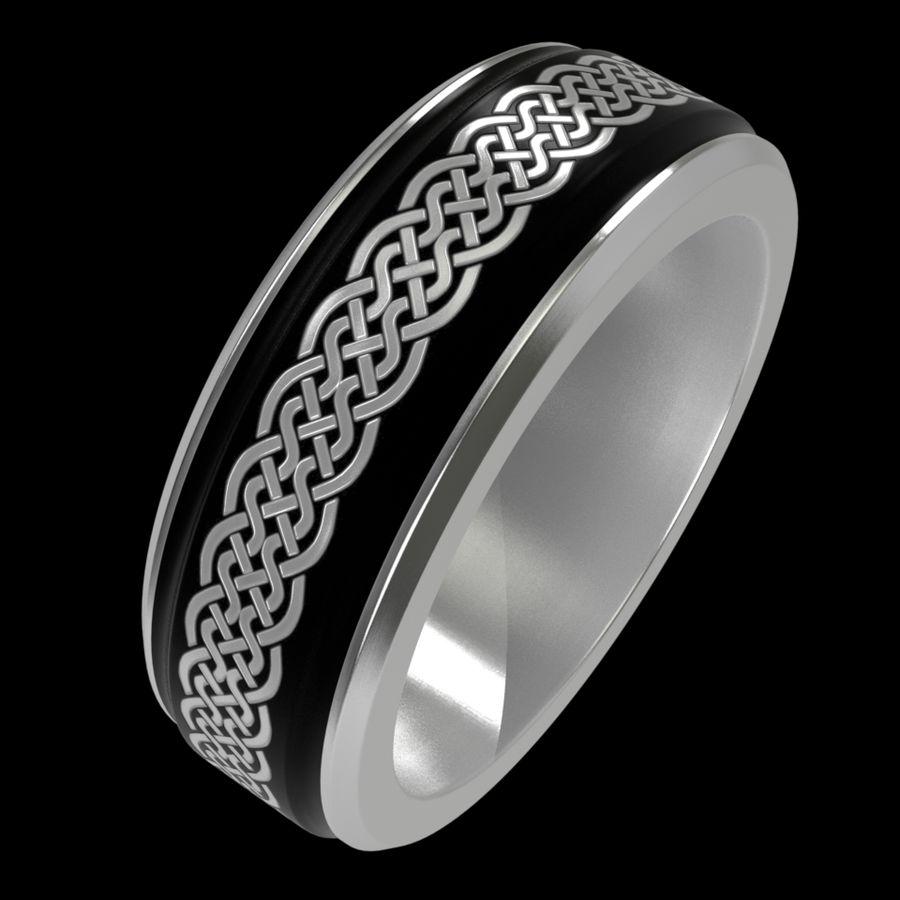 Keltischer Ring 2 royalty-free 3d model - Preview no. 5