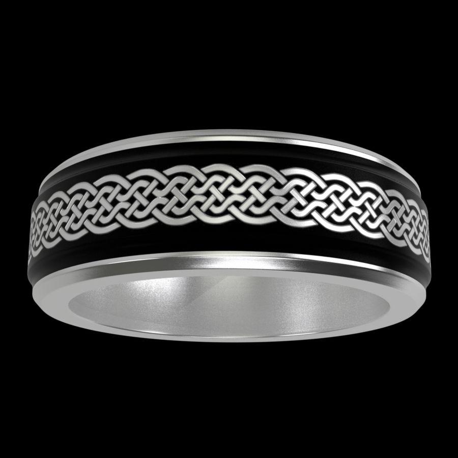 Keltischer Ring 2 royalty-free 3d model - Preview no. 2