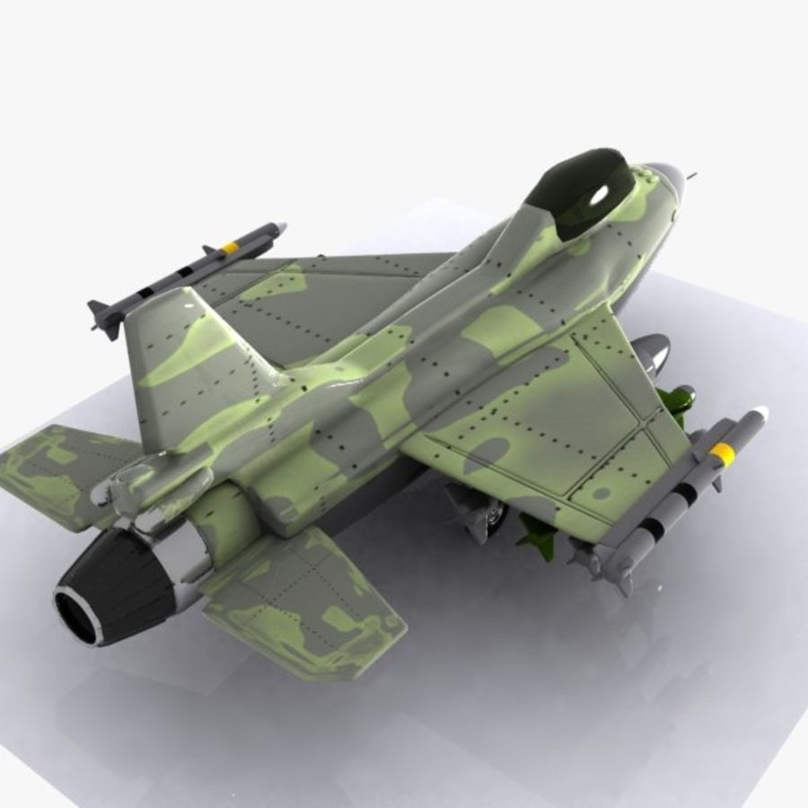 Cartoon Fighter Aircraft 4 royalty-free 3d model - Preview no. 7