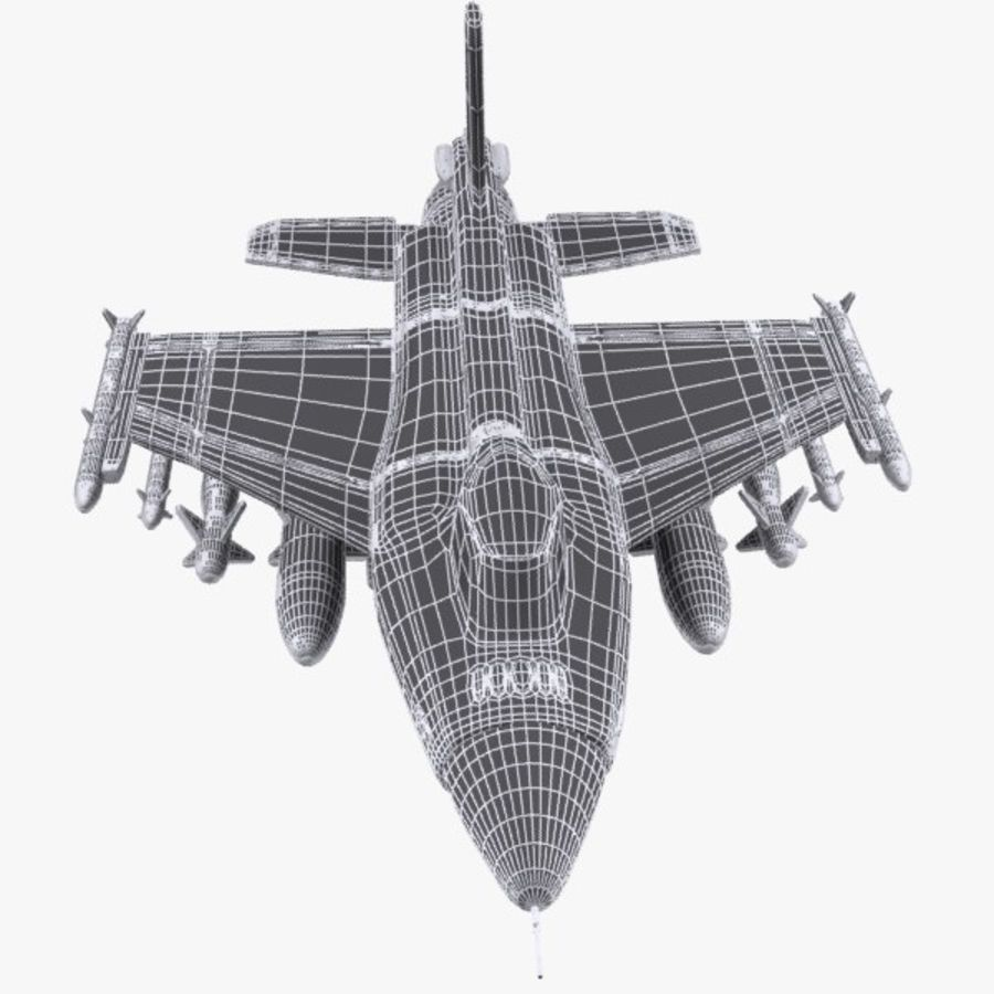 Cartoon Fighter Aircraft 4 royalty-free 3d model - Preview no. 12