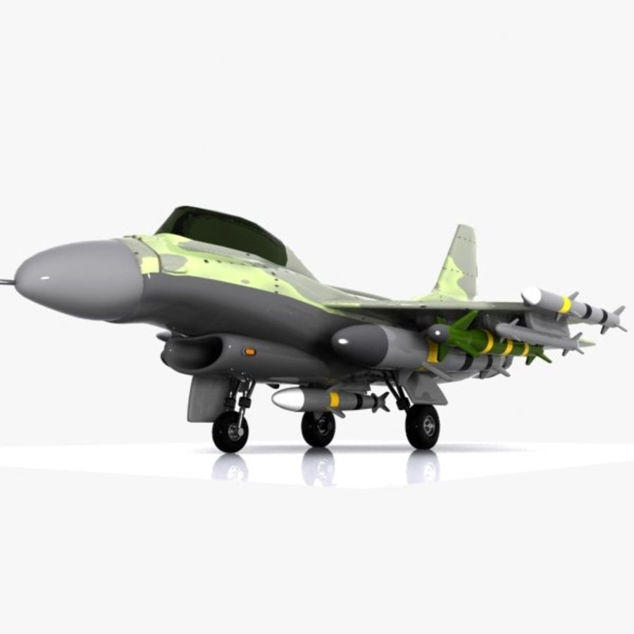 Cartoon Fighter Aircraft 4 royalty-free 3d model - Preview no. 4