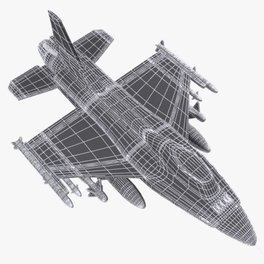 Cartoon Fighter Aircraft 4 royalty-free 3d model - Preview no. 9