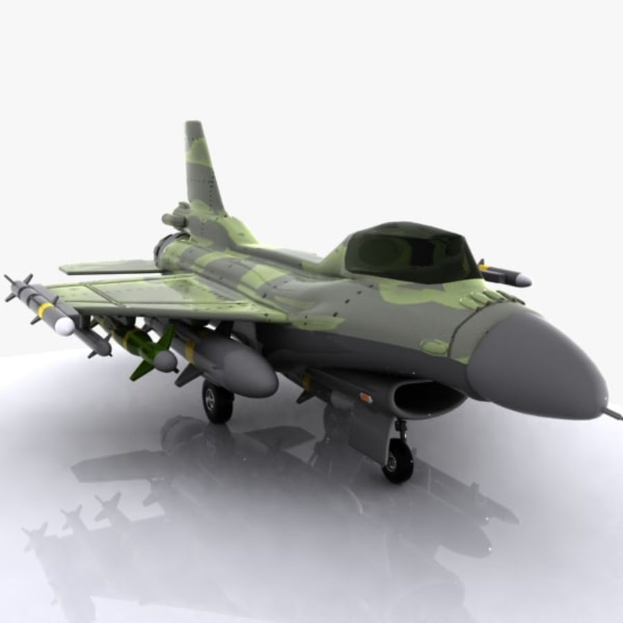 Cartoon Fighter Aircraft 4 royalty-free 3d model - Preview no. 6