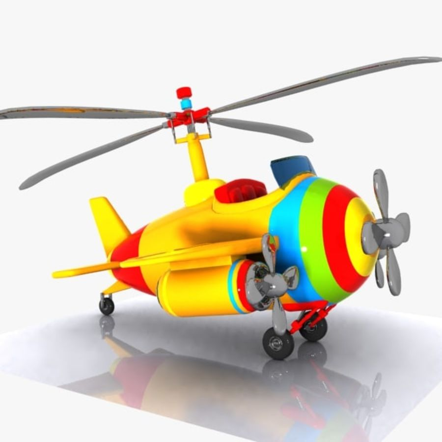 Cartoon Aircraft-Helicopter Hybrid royalty-free 3d model - Preview no. 1
