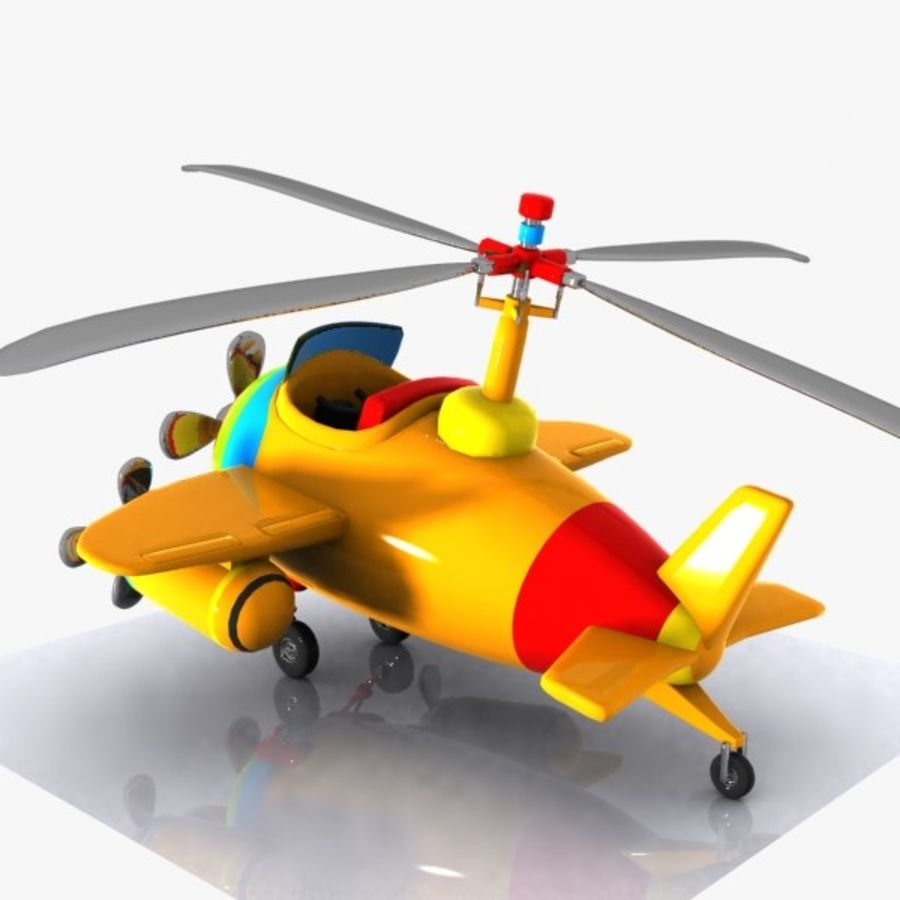 Cartoon Aircraft-Helicopter Hybrid royalty-free 3d model - Preview no. 6