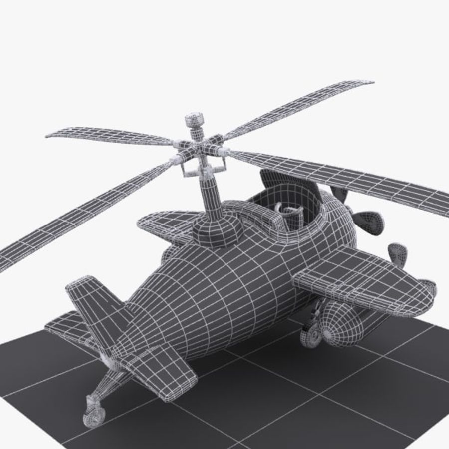 Cartoon Aircraft-Helicopter Hybrid royalty-free 3d model - Preview no. 11