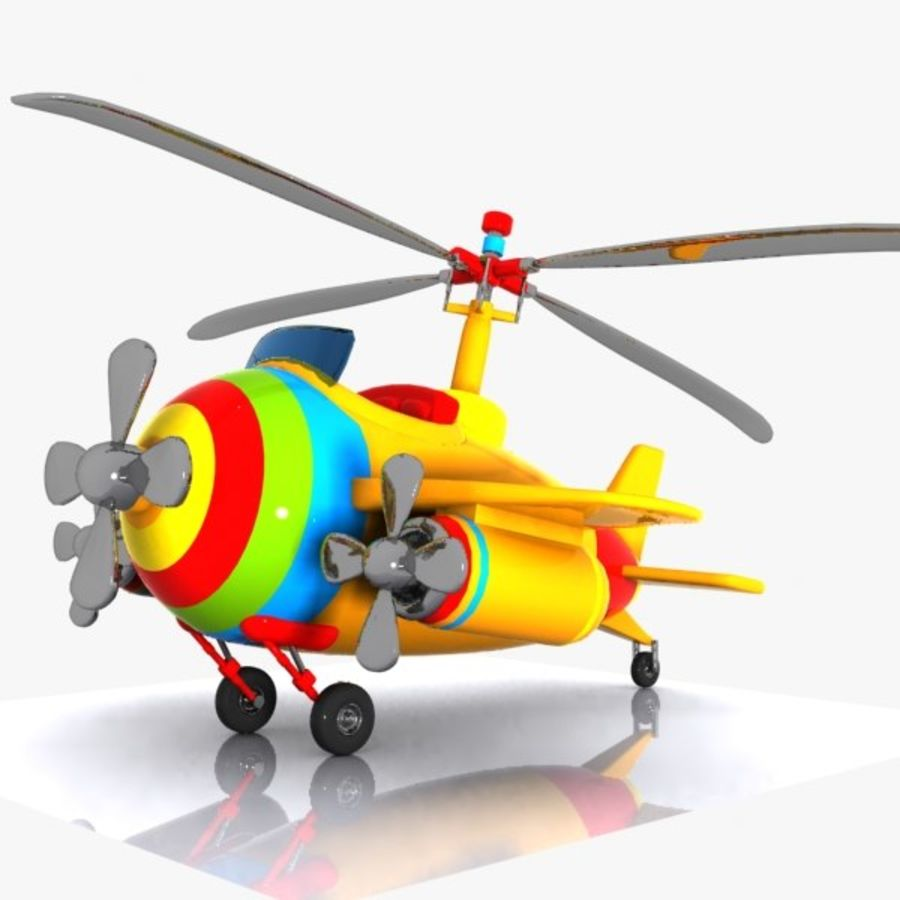 Cartoon Aircraft-Helicopter Hybrid royalty-free 3d model - Preview no. 5