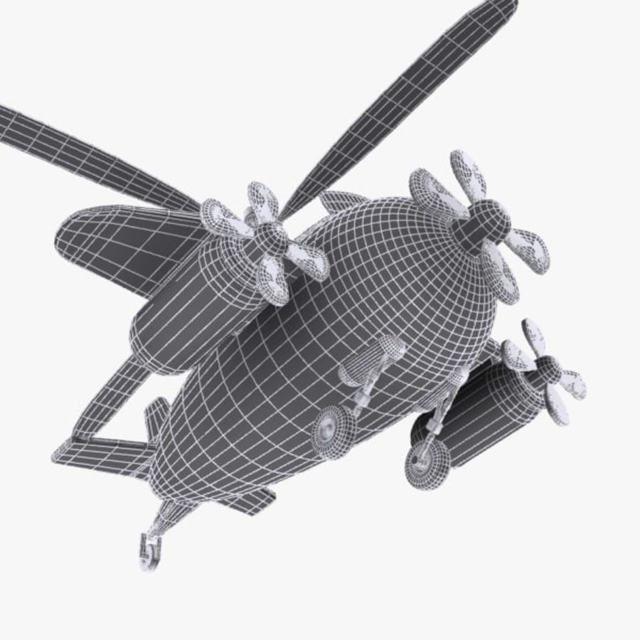 Cartoon Aircraft-Helicopter Hybrid royalty-free 3d model - Preview no. 12