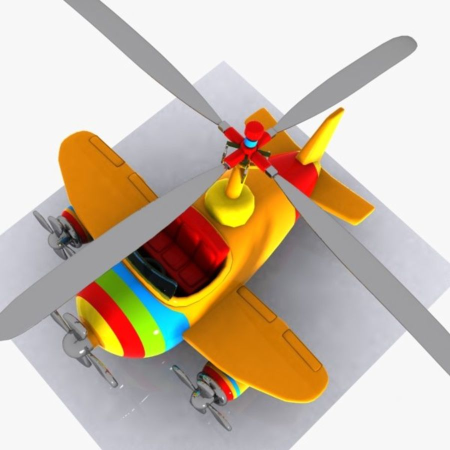 Cartoon Aircraft-Helicopter Hybrid royalty-free 3d model - Preview no. 7