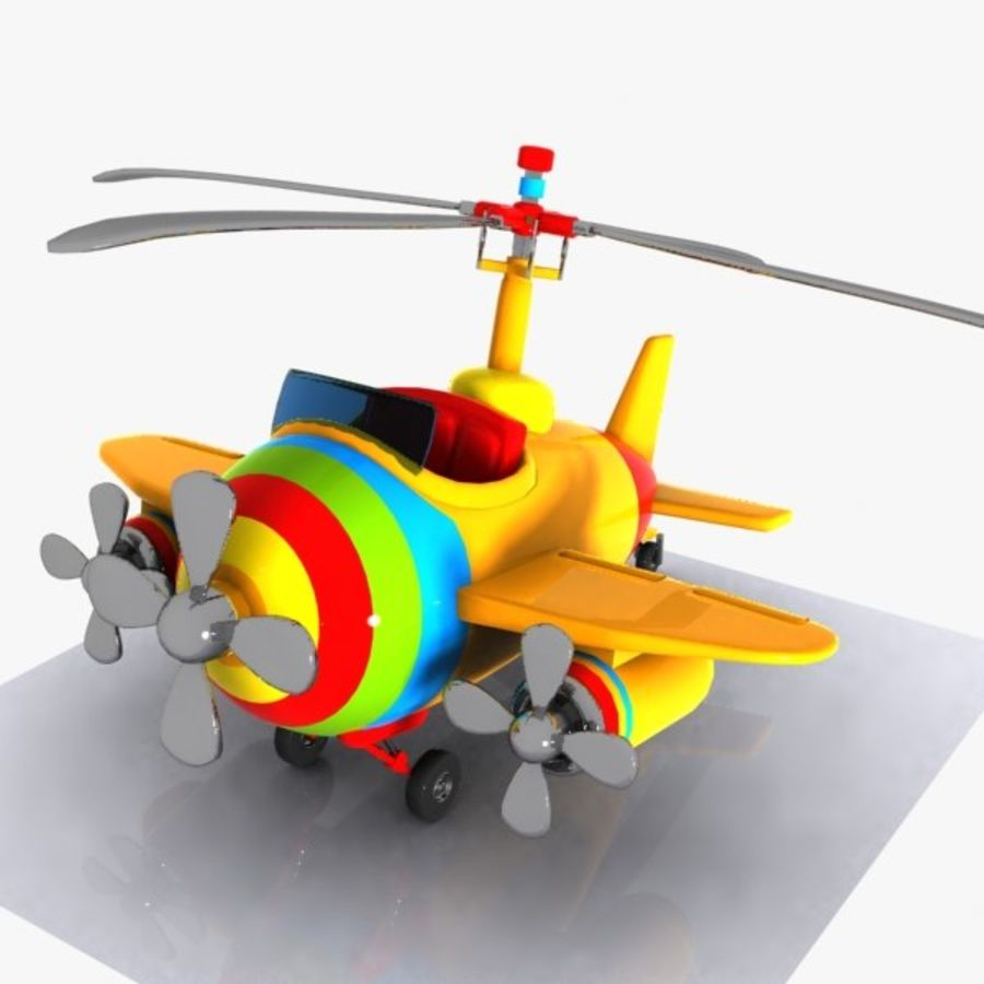 Cartoon Aircraft-Helicopter Hybrid royalty-free 3d model - Preview no. 4