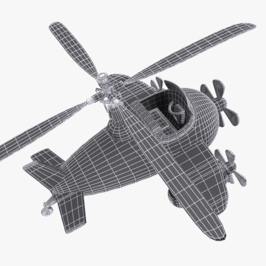 Cartoon Aircraft-Helicopter Hybrid royalty-free 3d model - Preview no. 13