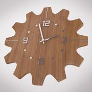 Wooden Wall Clock 3d model