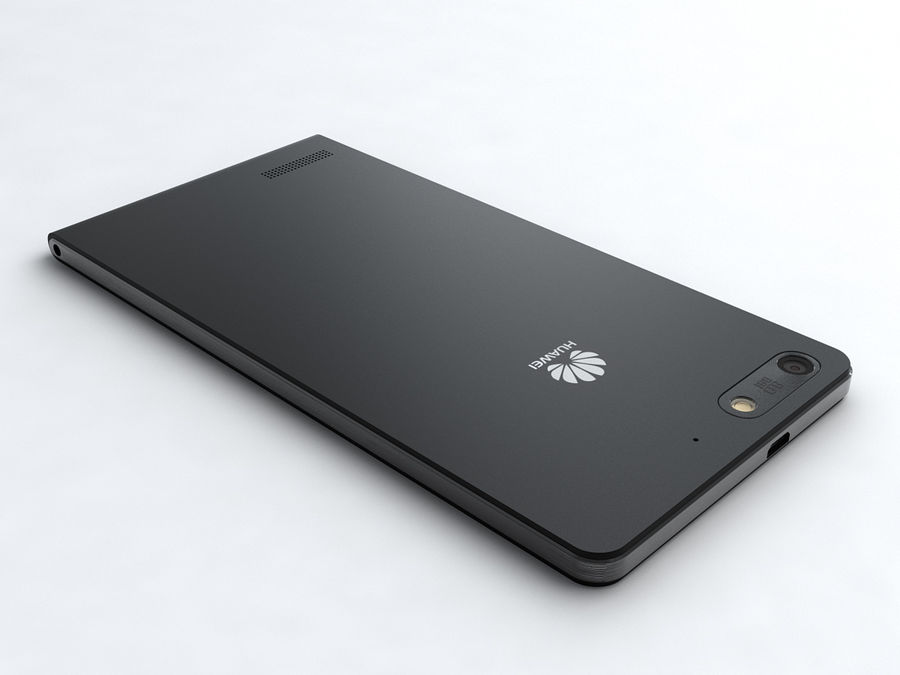 Huawei Ascend G6 royalty-free 3d model - Preview no. 3