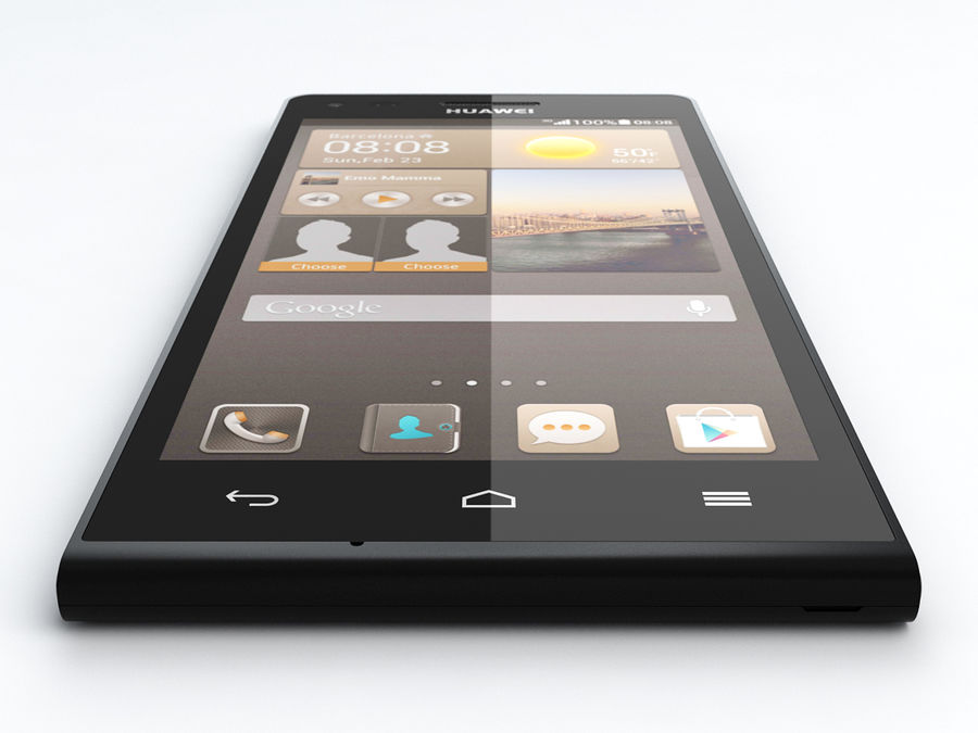 Huawei Ascend G6 royalty-free 3d model - Preview no. 5