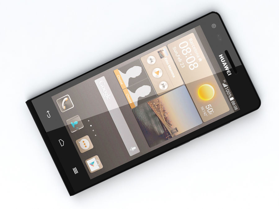 Huawei Ascend G6 royalty-free 3d model - Preview no. 13