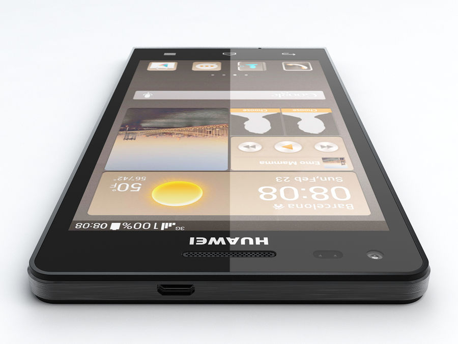 Huawei Ascend G6 royalty-free 3d model - Preview no. 6