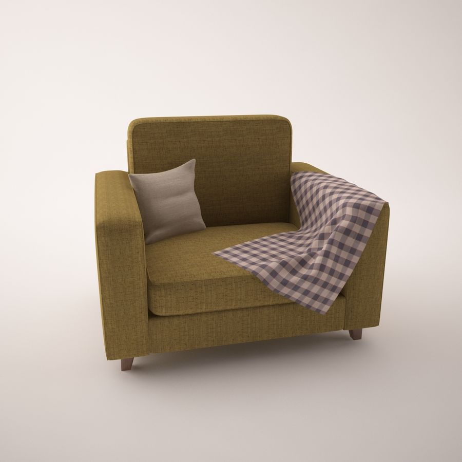 Conjunto de muebles royalty-free modelo 3d - Preview no. 5