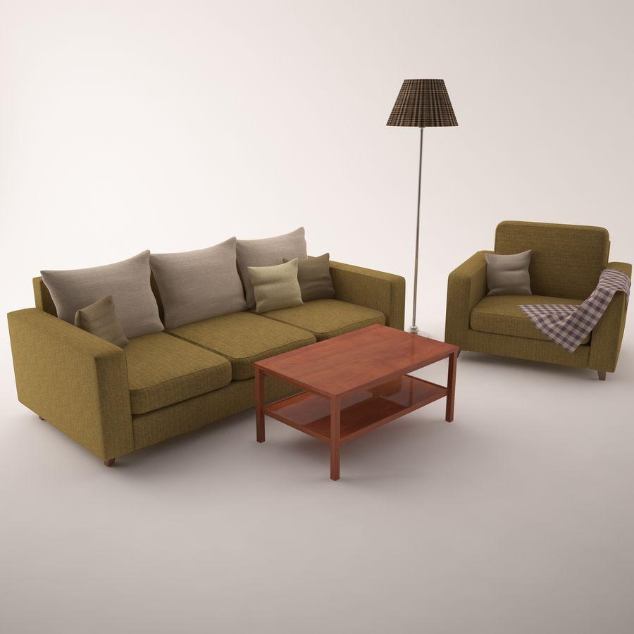 Conjunto de muebles royalty-free modelo 3d - Preview no. 1