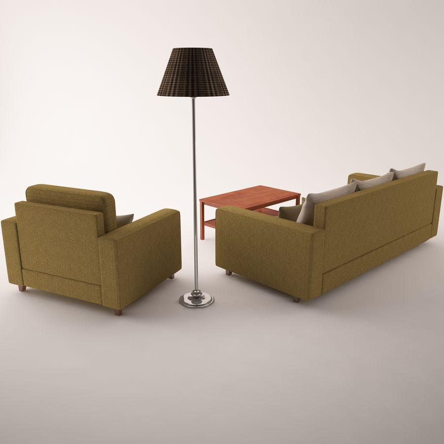 Conjunto de muebles royalty-free modelo 3d - Preview no. 9