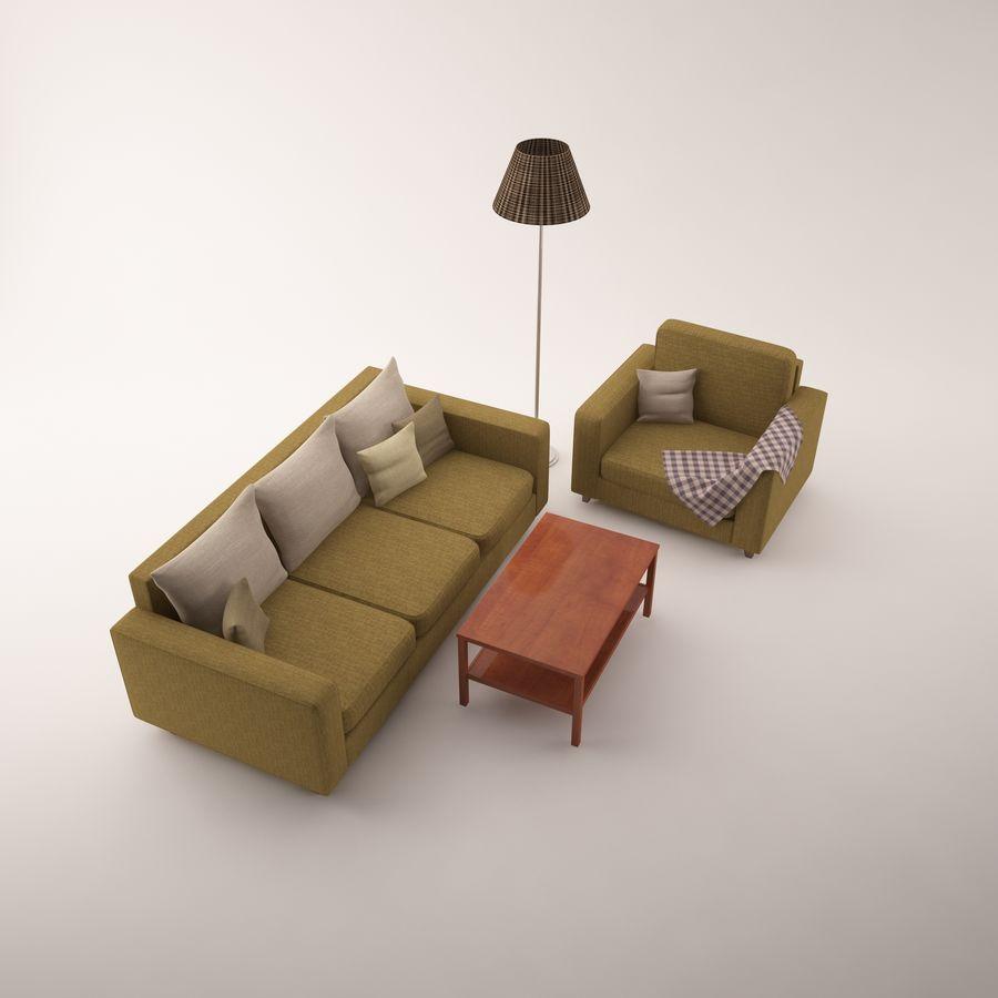 Conjunto de muebles royalty-free modelo 3d - Preview no. 6