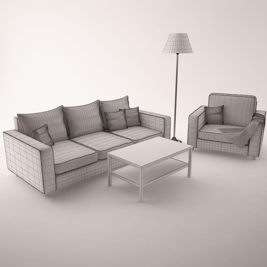 Conjunto de muebles royalty-free modelo 3d - Preview no. 8