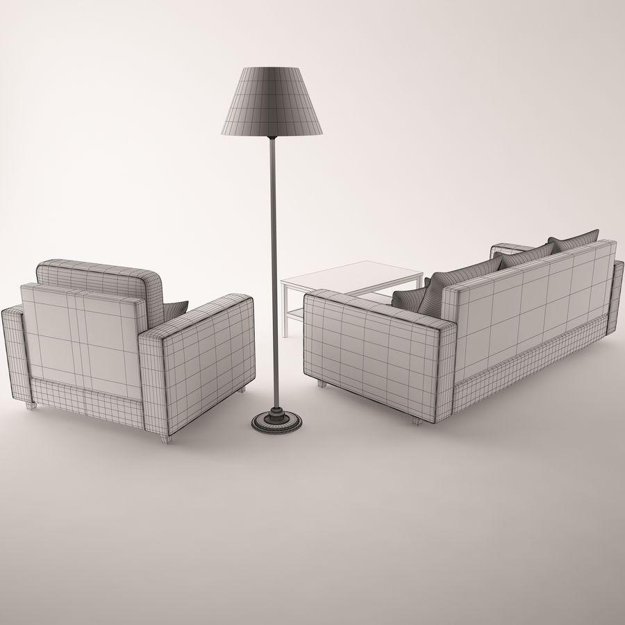 Conjunto de muebles royalty-free modelo 3d - Preview no. 10