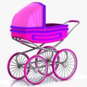 Cartoon Stroller 3d model