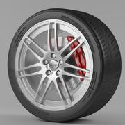 Wheel Audi 3d model
