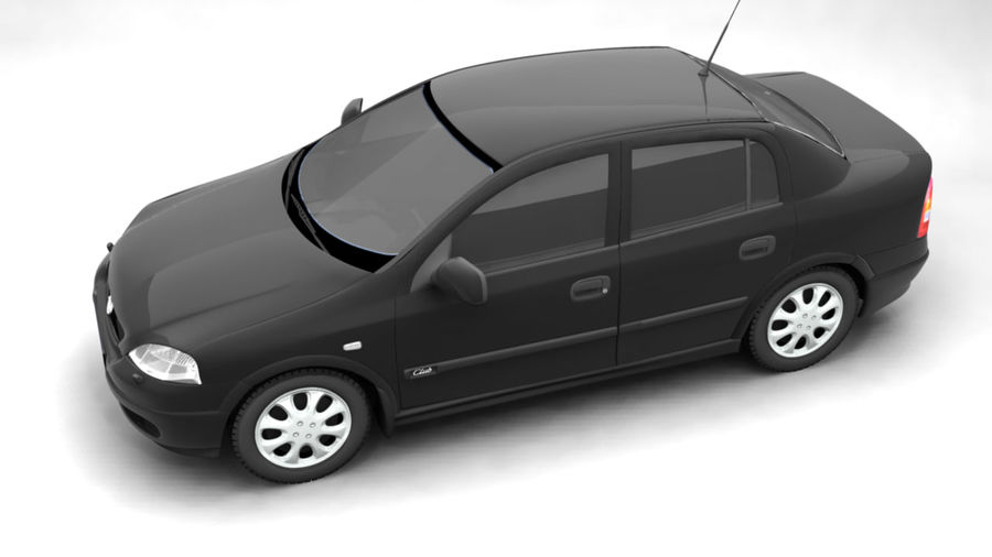 Opel Astra 1999 royalty-free 3d model - Preview no. 5