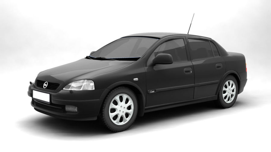 Opel Astra 1999 royalty-free 3d model - Preview no. 1