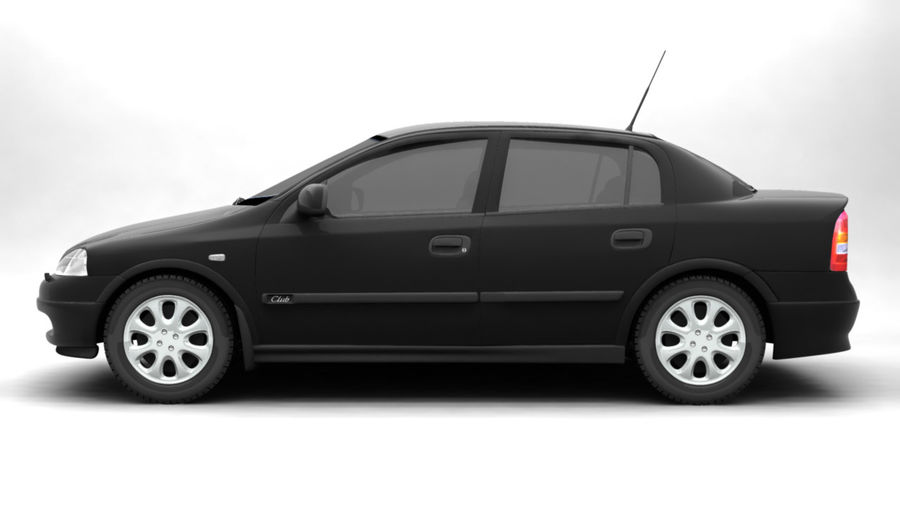 Opel Astra 1999 royalty-free 3d model - Preview no. 3