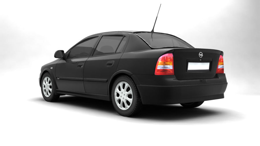 Opel Astra 1999 royalty-free 3d model - Preview no. 2