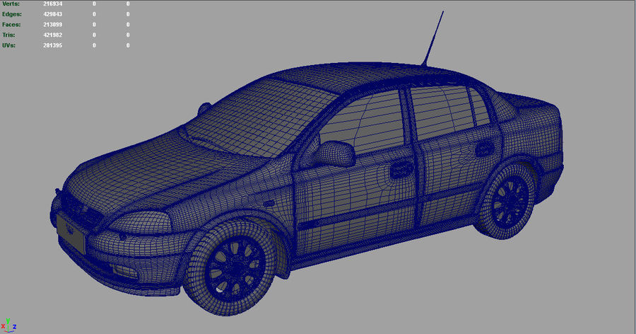 Opel Astra 1999 royalty-free 3d model - Preview no. 6