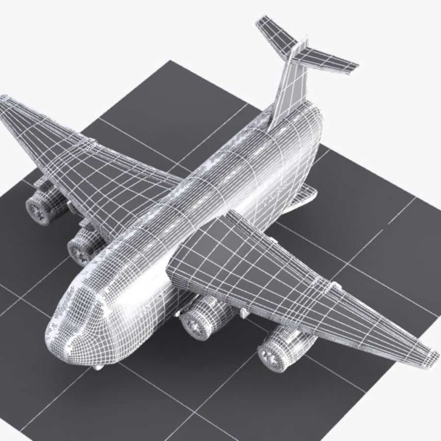 卡通货运飞机 royalty-free 3d model - Preview no. 12