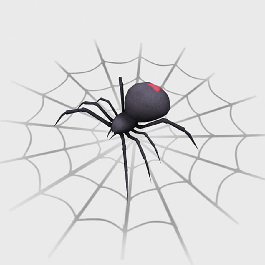 black widow spider royalty-free 3d model - Preview no. 2