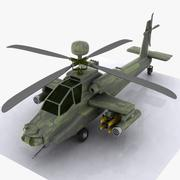 Cartoon Attack Helicopter 3d model