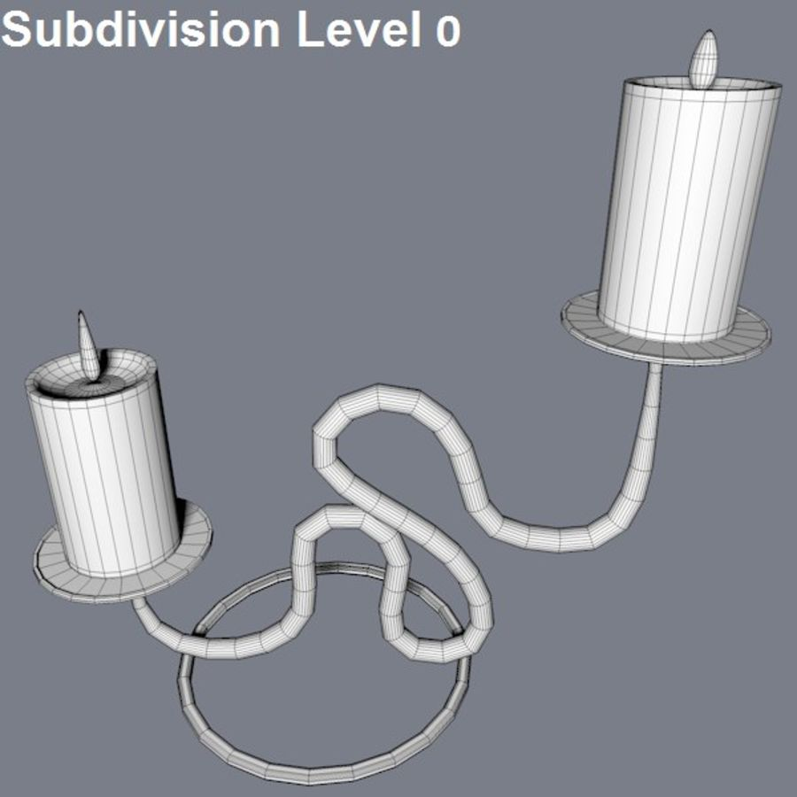 Realistic candle holder royalty-free 3d model - Preview no. 5