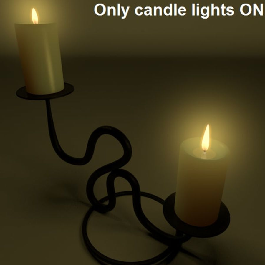 Realistic candle holder royalty-free 3d model - Preview no. 4