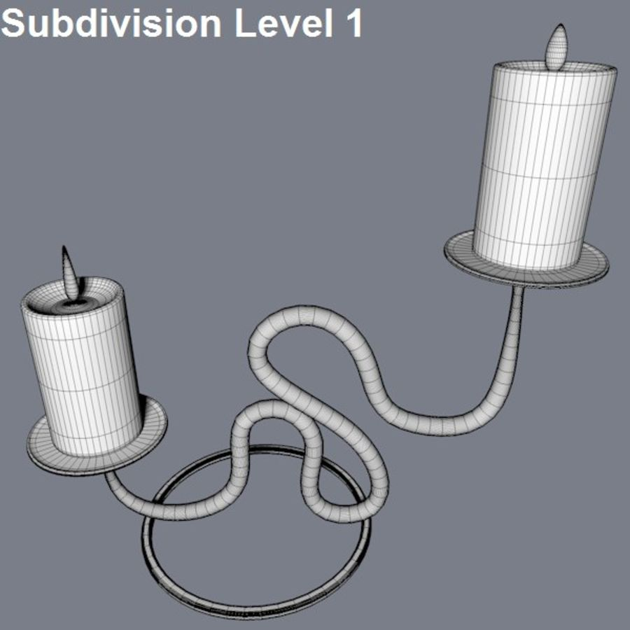 Realistic candle holder royalty-free 3d model - Preview no. 6