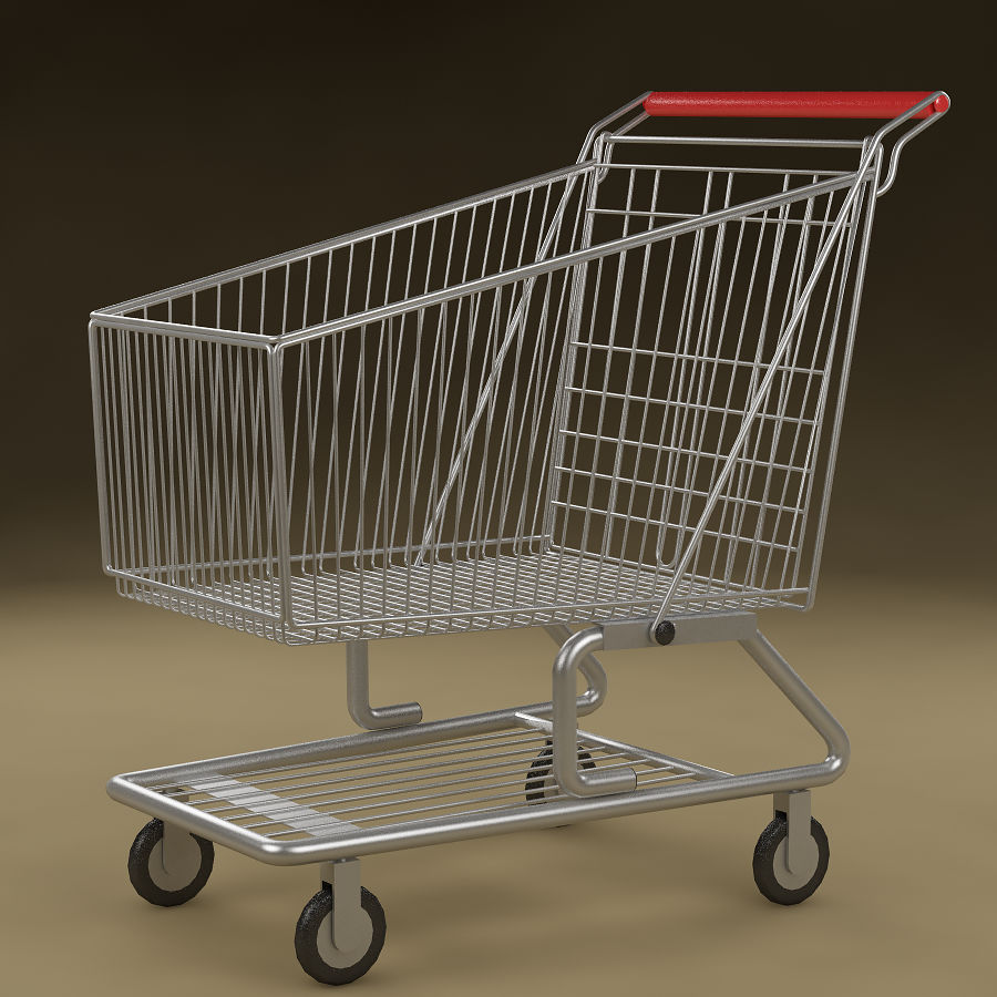 Shopping cart_01 royalty-free 3d model - Preview no. 2