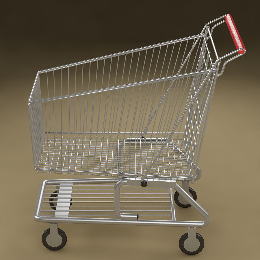 Shopping cart_01 royalty-free 3d model - Preview no. 5