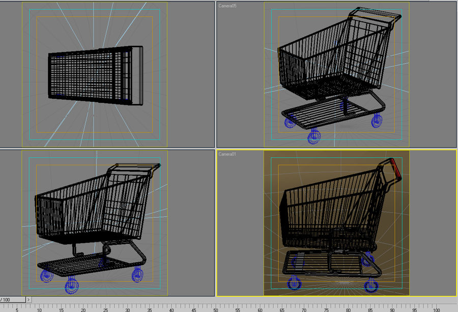 Shopping cart_01 royalty-free 3d model - Preview no. 8